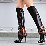 Falcon Leather Knee-High Buckle Boots ($600)