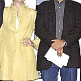 Meryl Streep and Robert De Niro had a giggle during a press conference announcing the creation of the Tribeca Film Festival in NYC in December 2001.