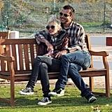 Gavin Rossdale put his arms around Gwen Stefani.