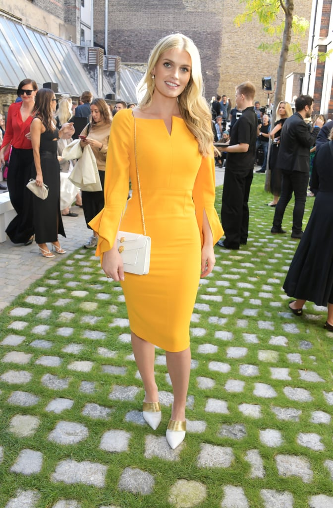 Lady Kitty Spencer at the Roland Mouret London Fashion Week Show