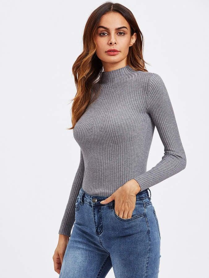Melania Trump's Gray Turtleneck Sweater | POPSUGAR Fashion
