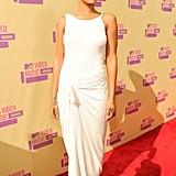 Rihanna showed off her shorter hair.