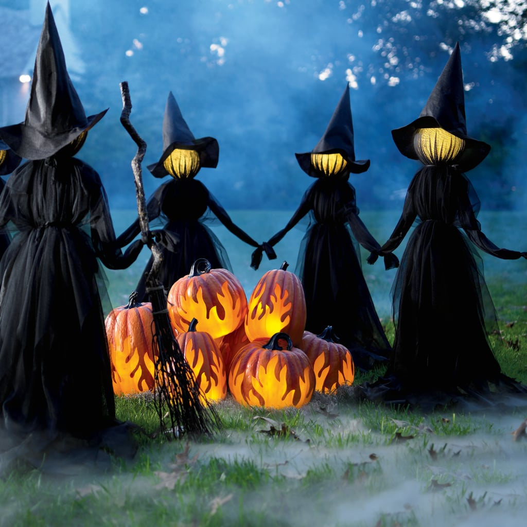 Best 2019 Halloween Decor At Grandin Road: Holding Hands Witches, Set Of Three