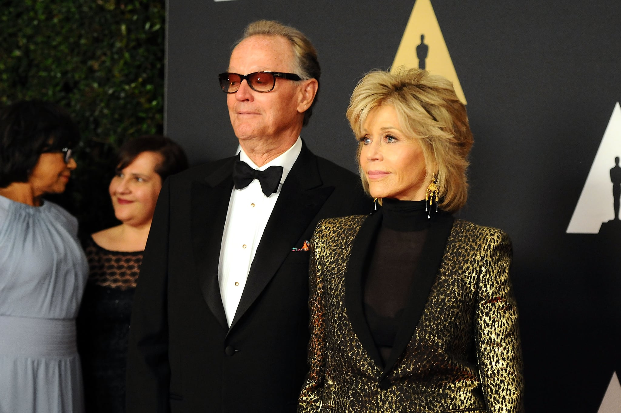 HOLLYWOOD, CA - NOVEMBER 14:  Peter Fonda and Jane Fond attend the Academy of Motion Picture Arts and Sciences' 7th Annual Governors Awards at The Ray Dolby Ballroom at Hollywood & Highland Center on November 14, 2015 in Hollywood, California.  (Photo by Araya Diaz/WireImage)