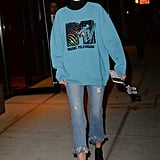 Gigi Hadid in Her MTV Sweatshirt and Bella's Roberi & Fraud Sunglasses