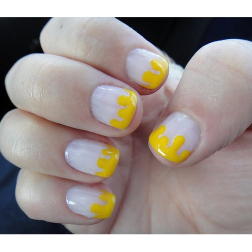 Nail Art Simple Manicure: Nail Art: How To Make A Cute, Easy Drip Manicure