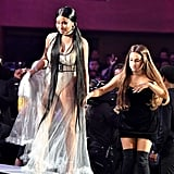Ariana Grande and Nicki Minaj at the 2018 MTV VMAs