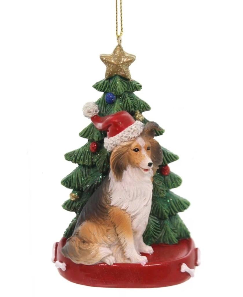 Kurt Adler Dog with Christmas Tree Ornament