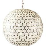 Madeline: Capiz Honeycomb Chandelier