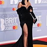 Maya Jama at the 2020 BRIT Awards Red Carpet