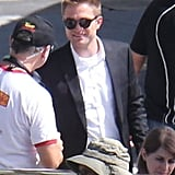 Robert Pattinson smiled and chatted with crew members.