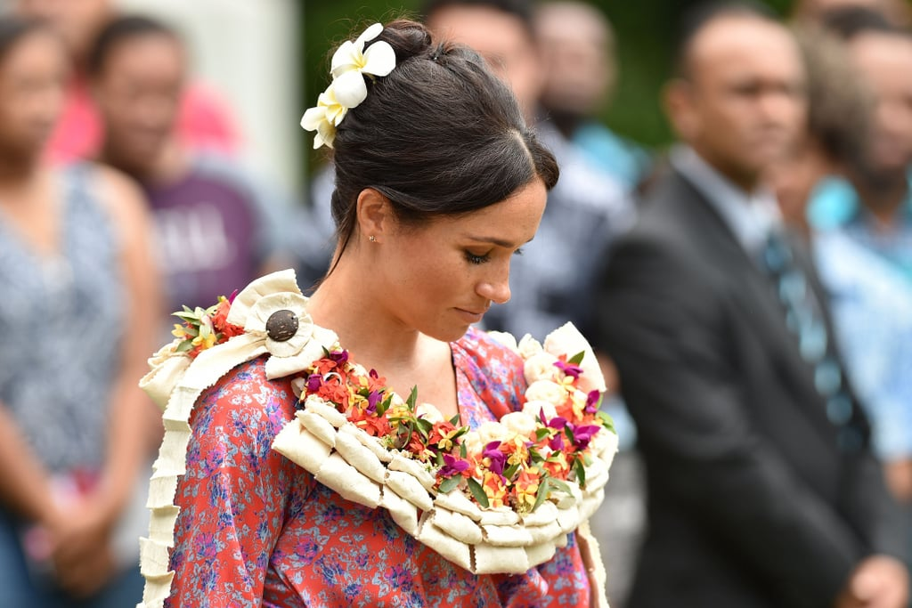Meghan Markle With Flowers in Her Hair October 2018