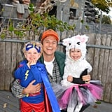 Harper and Gideon Burtka-Harris as a Superhero and Cat