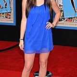 The shoes were age-appropriate for a 13-year-old, but this blue dress was still kind of revealing.
