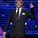 Dirk Nowitzki accepted one of his two awards of the night.