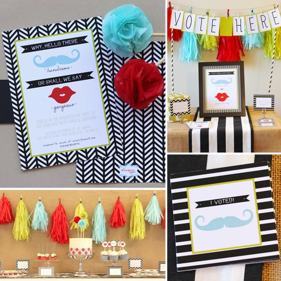 A Mod Gender Reveal Party For a Handsome Fella or Lil Lady