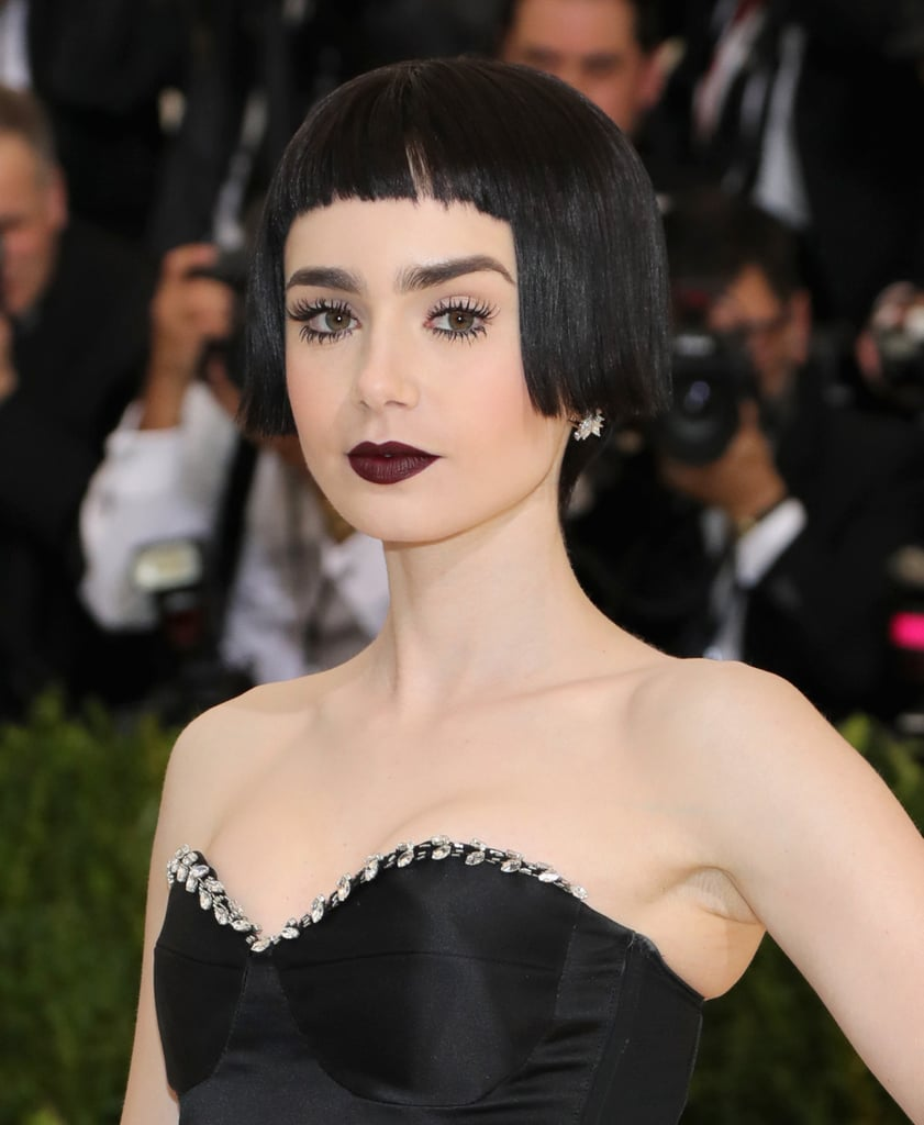 Lily Collins Hair and Makeup at the 2017 Met Gala ...