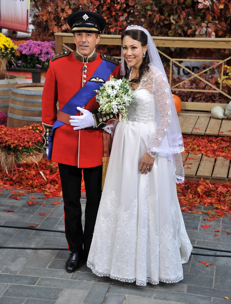 Matt Lauer made a perfect Prince William for Ann Curry's Kate Middleton in 2011.