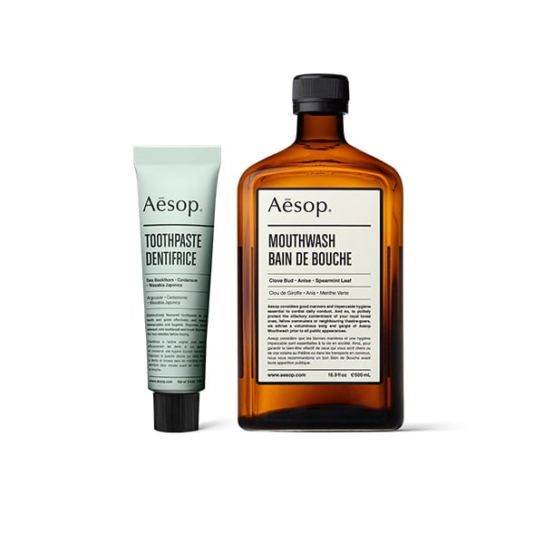 Aesop Toothpaste and Mouthwash ($40)