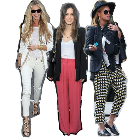 Power Pants Still Trending! Beyonce, Rachel Bilson and Elle Macpherson All Wear Variations on the Statement Trouser Trend