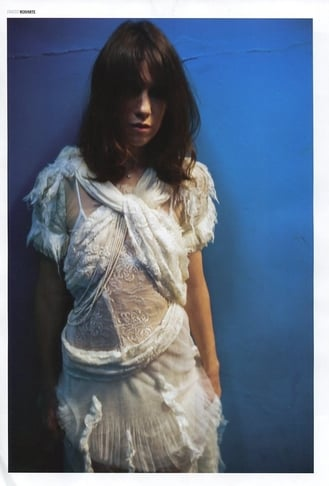 Charlotte Gainsbourg in Rodarte, styled by Leith Clark, photographed by Nan Goldin