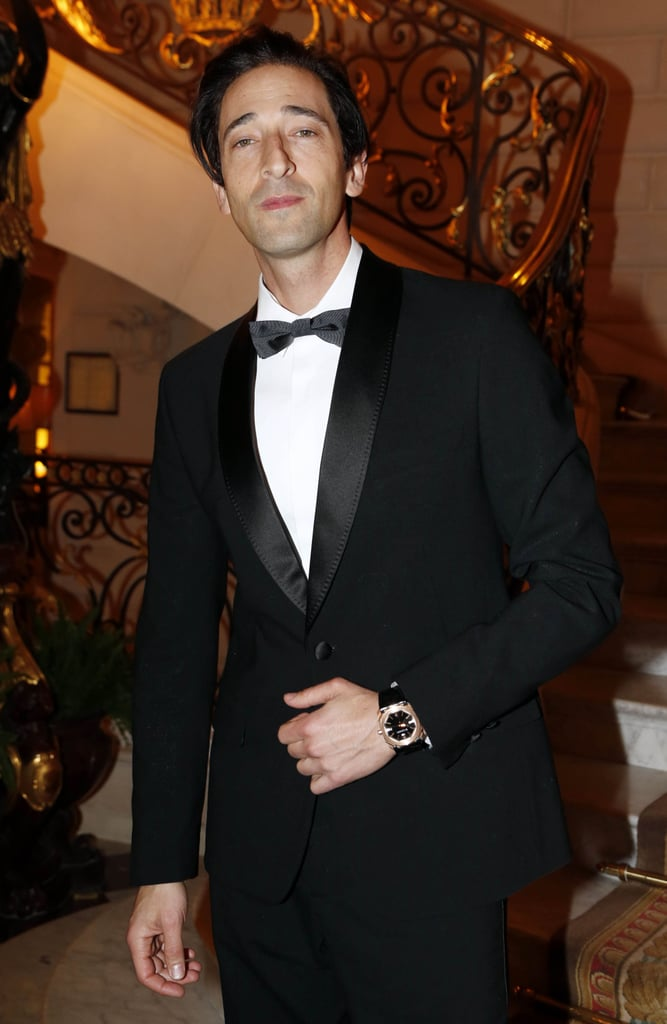 Adrien Brody looked dapper in his tuxedo at Tuesday night's CR Fashion Book Issue 2 launch party.