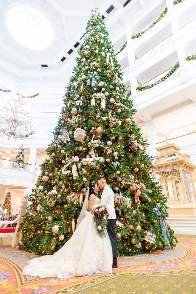 This Couple Had a Holiday Wedding at Walt Disney World