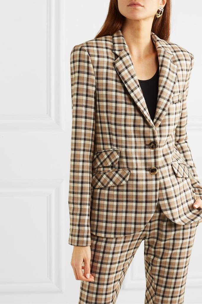 Paco Rabanne Checked Wool-Twill Blazer