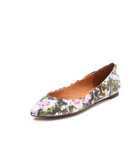 What feels more summery than Madewell's Sidewalk skimmer flats in Sungarden print ($82)? The fresh floral print could easily liven up any outfit.