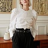 Steal: Pixie Market Puffy-Sleeve Crop Shirt