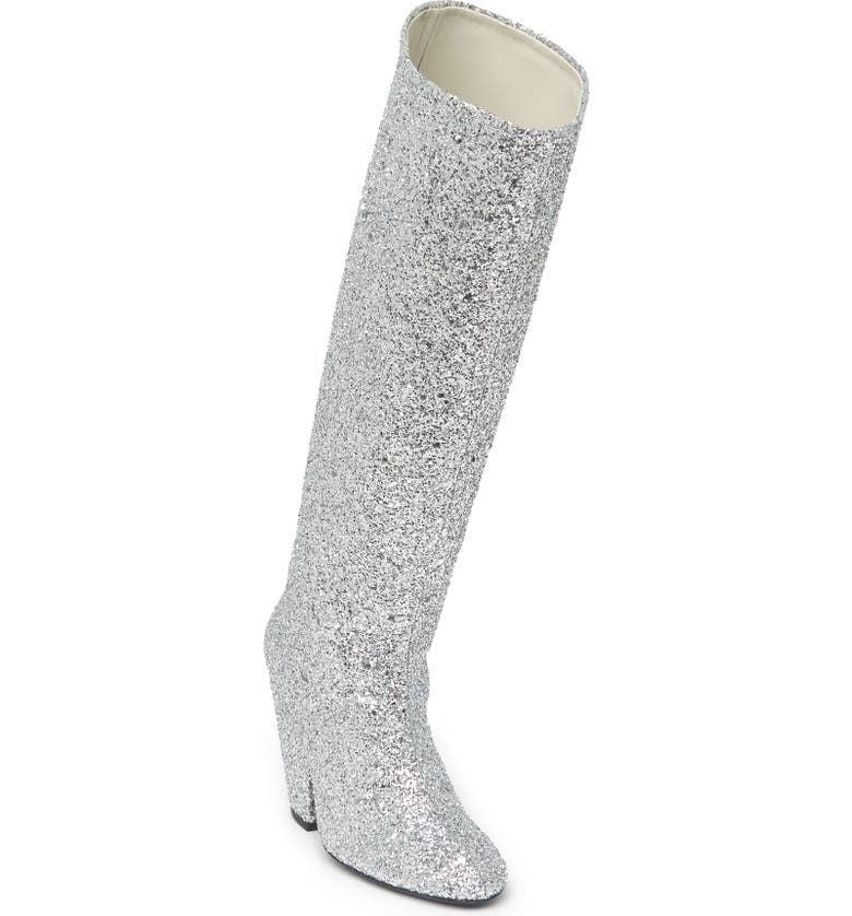 Simon Miller Glitter Slant Knee High Boot
