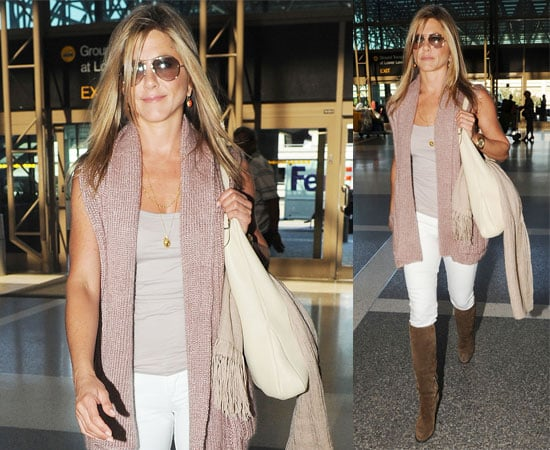 Pictures of Jennifer Aniston at LAX