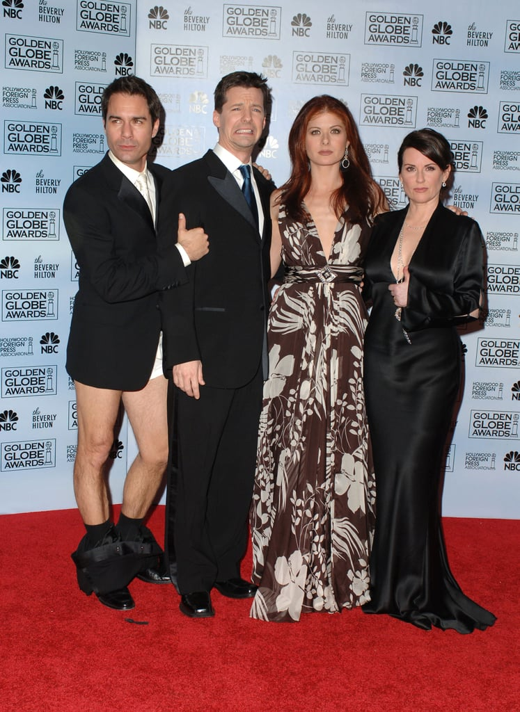 Eric McCormack, Sean Hayes, Debra Messing, and Megan Mullally; 2006 Golden Globes