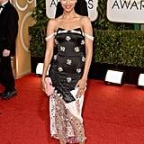 Zoe Saldana at the Golden Globes 2014