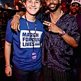 Pictured: Alex Moscou and Big Sean