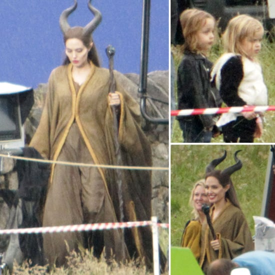 Angelina Jolie Gets a Special Set Visit From Knox and Vivienne