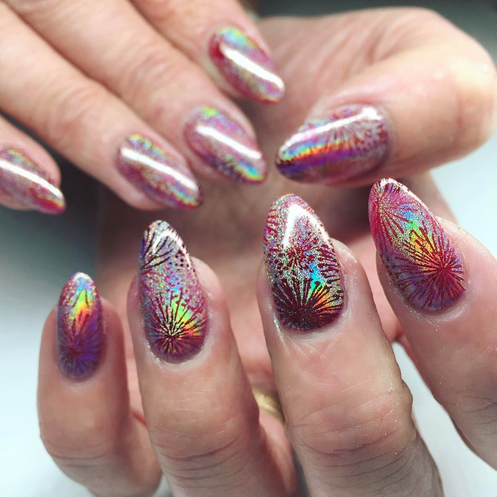 new year's eve nail art 2017 | popsugar beauty uk