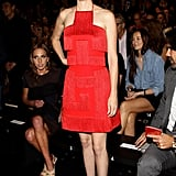 January Jones channels a sultry, modern flapper at Versace.