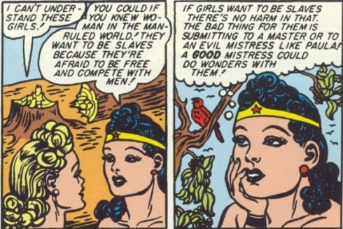 See, girls want to be slaves! Source: DC Comics