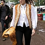 Source: Getty The greatest addition to a simple outfit - whether it's jeans and a top or shorts and a t-shirt - is a bohemian-vintage looking vest. Add colour to your look and don't be afraid to choose a vest with embroidery and patterns.