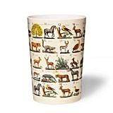 John Derian Animal-Print Melamine Wastebasket