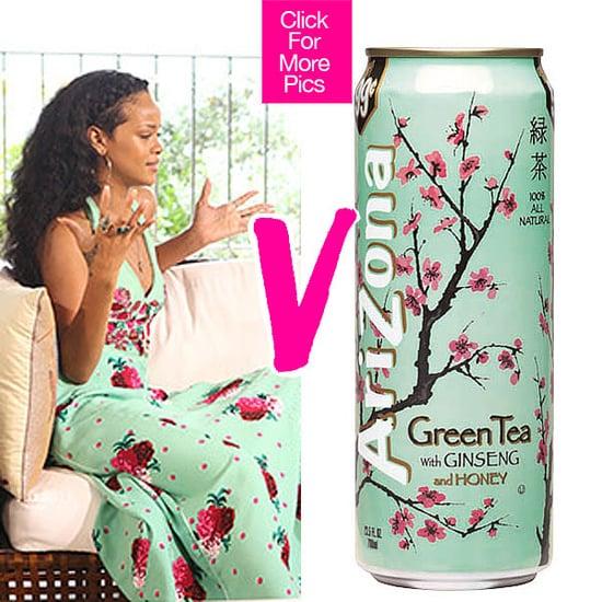 Who Wore It Better? Rihanna Vs. A Can Of Arizona Green Tea