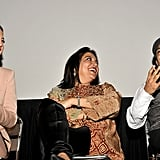 Kate Hudson, Riz Ahmed, and their director Mira Nair attended a Q&A session.