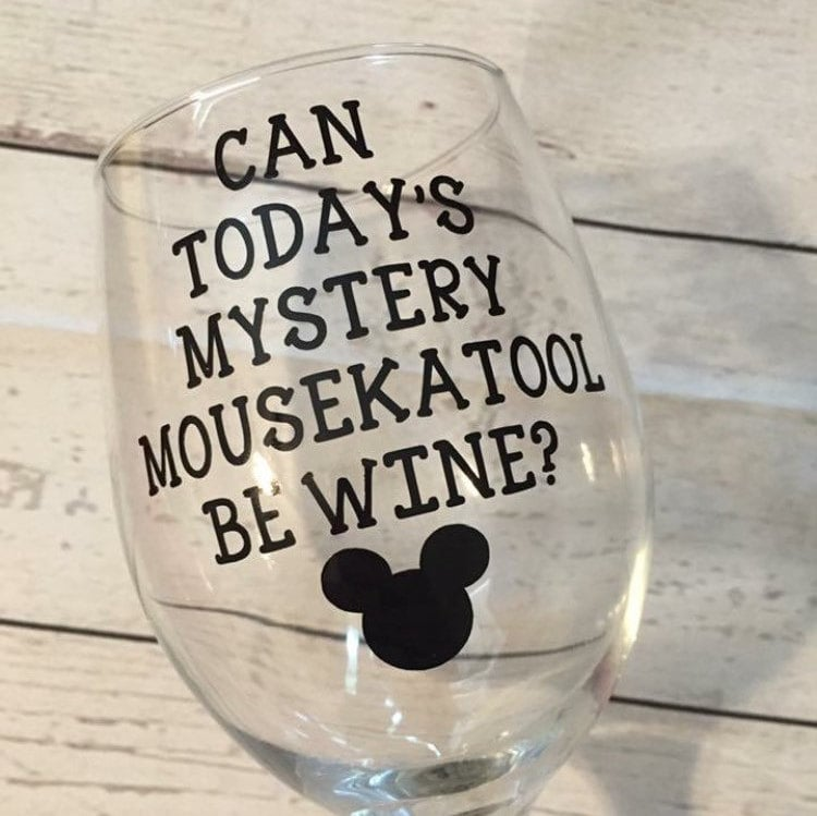 Today's Mystery Mousekatool Wine Glass