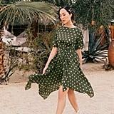 Chriselle Lim Marie Handkerchief Hem Midi Dress