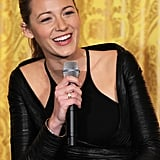 Blake Lively answered students' questions during the workshop.