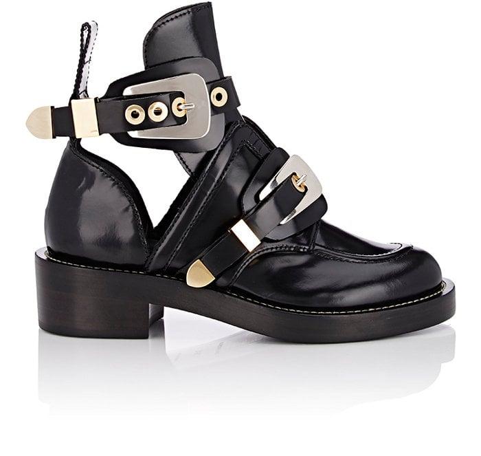Balenciaga Double Buckle-Strap Boots-Colorless ($1,275)