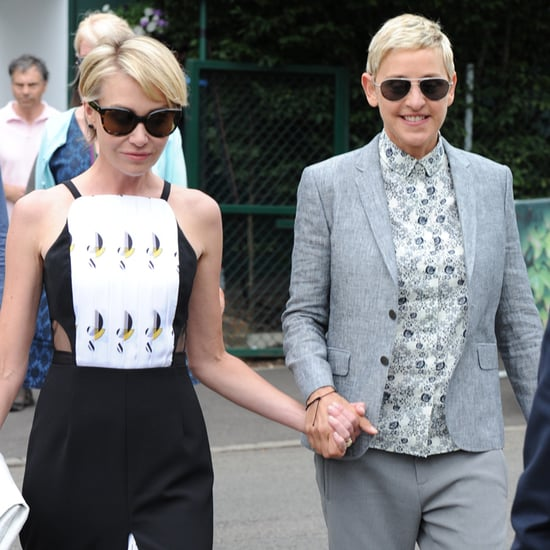 Ellen DeGeneres and Portia de Rossi at Wimbledon July 2016