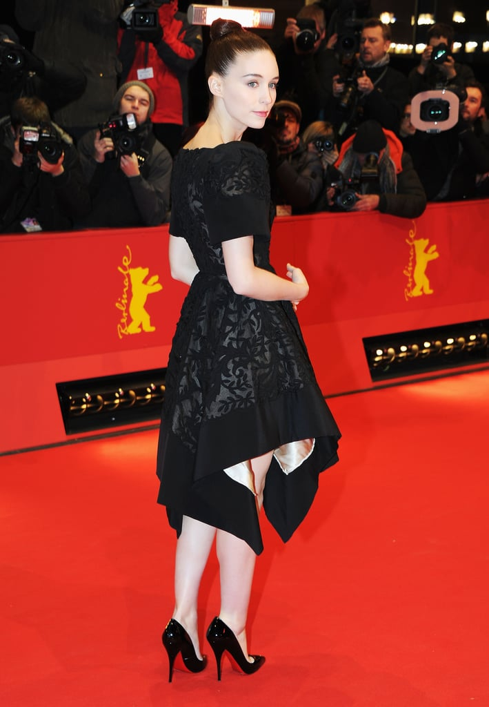 Rooney Mara wore a black dress to the red carpet premiere of Side Effects.