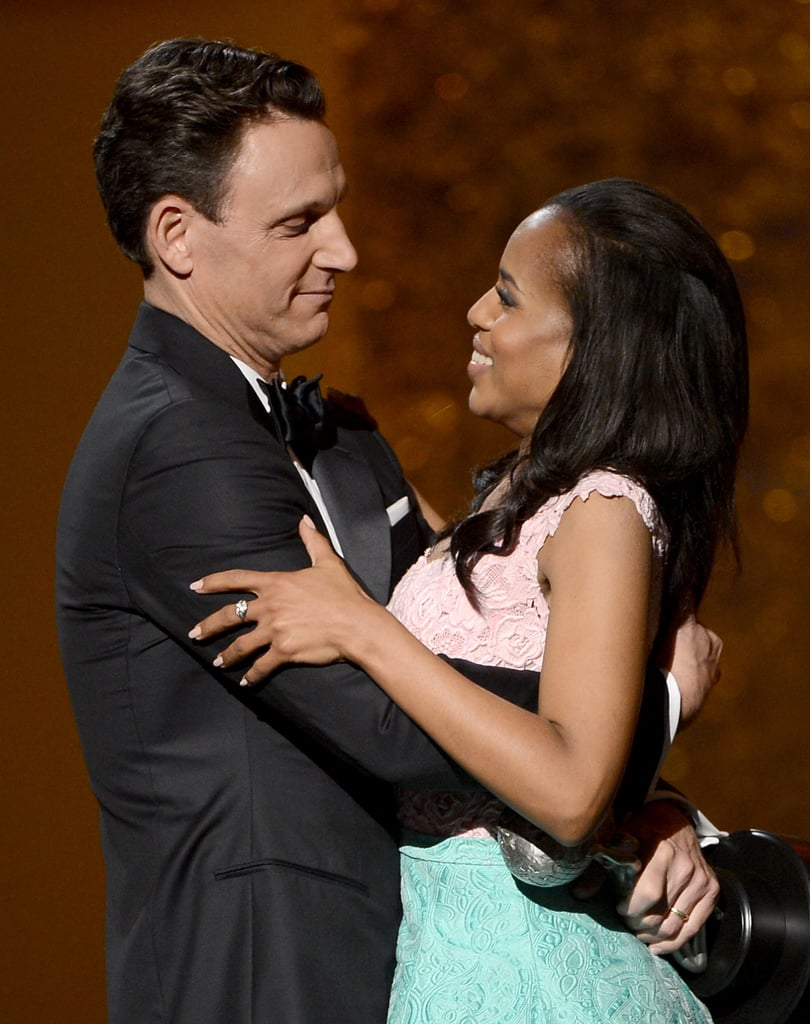 Kerry Washington celebrated with her Scandal costar.